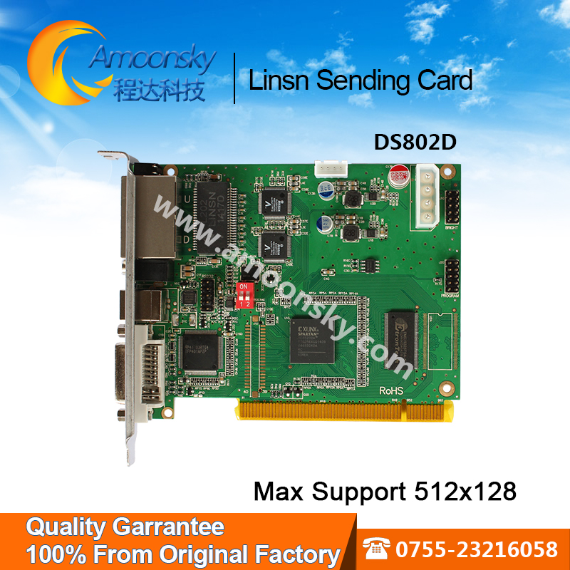 все цены на Linsn DS802D led screen sending card Single & Dual color led display sending card linsn DS802 replace DS801 DS801d best selling онлайн