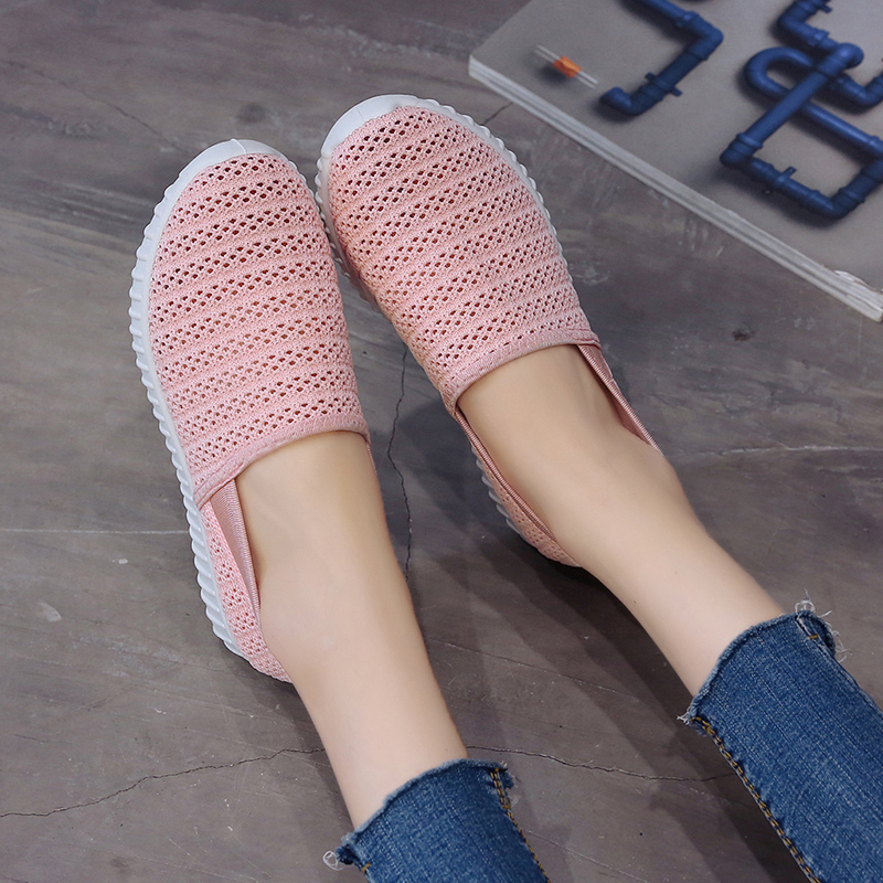 LASPERAL Women Vulcanized Shoes Spring Slip On Mesh Sneakers Shallow Loafers Breathable Soft Hollow Out Female Casual FlatsLASPERAL Women Vulcanized Shoes Spring Slip On Mesh Sneakers Shallow Loafers Breathable Soft Hollow Out Female Casual Flats