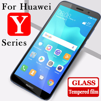 Protective glass for Huawei Y6 Y5 Y7 Y9 prime 2018 film tempered glas huavei view y3 6y y 6 screen protector huawey hauwei tremp image
