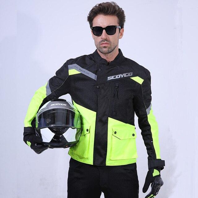 SCOYCO אופנוע מעיל קיץ לנשימה גברים של Moto מעיל רעיוני מעיל אופנוע עם מגיני סיור Moto CoatJK48X