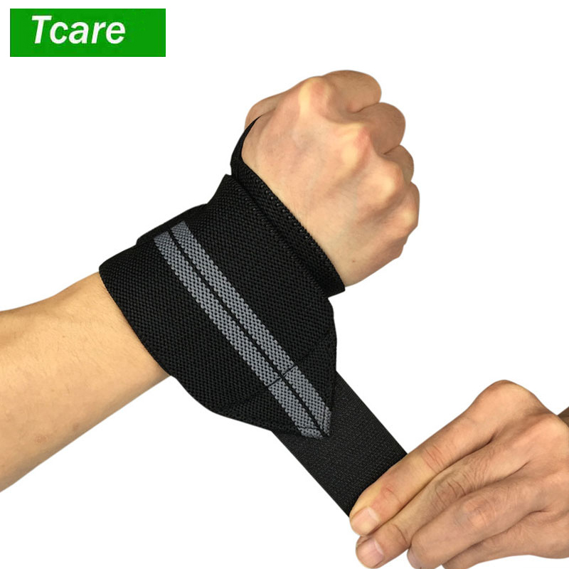 2Pcs/Lot Elastic Wrist Wraps - 45cm/18inch for Fitness Powerlifting Bodybuilding Weight Lifting Cross-training Wrist Supports