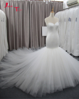 Jark Tozr Custom Made Chapel Train China Wedding Gowns 2019 Robe De Mariee Satin Tulle Simple Mermaid Bridal Dresses Mariage