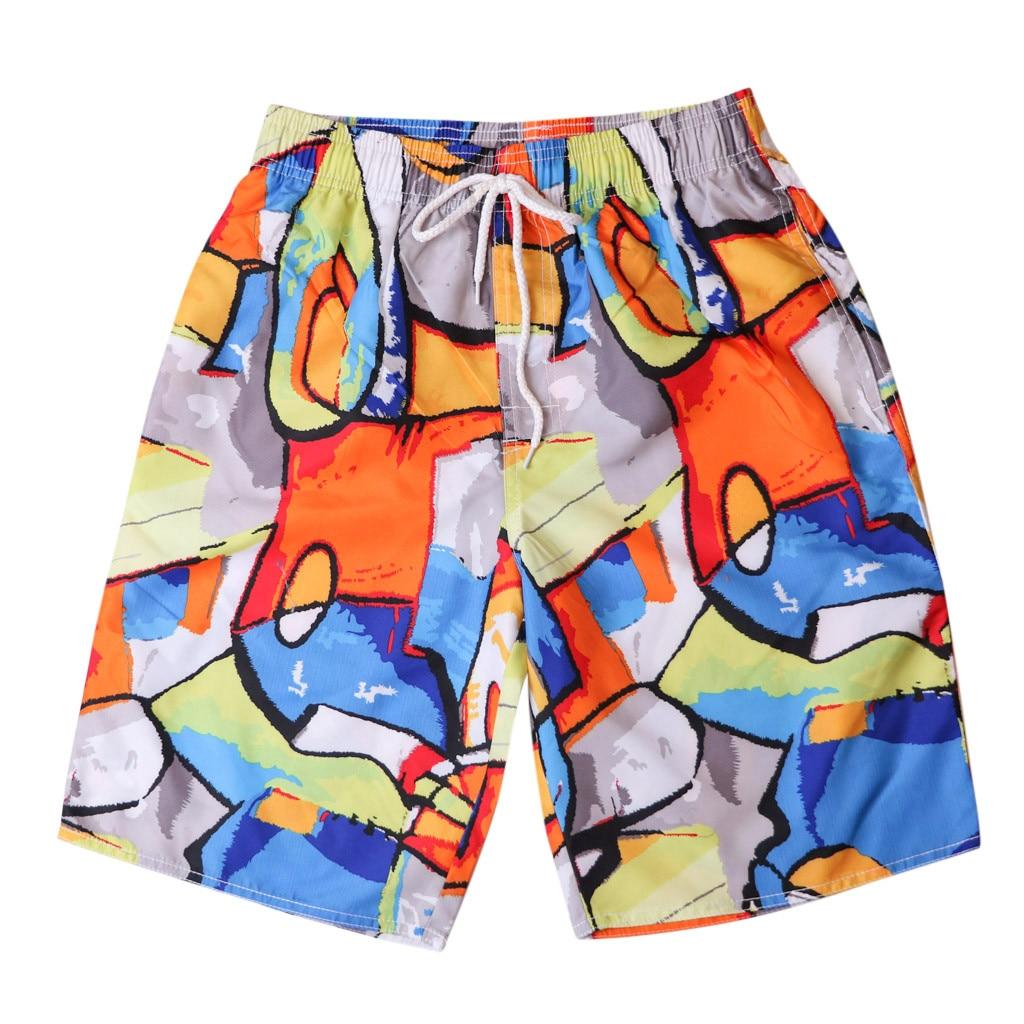 lovever Mens Fashion Drawstring Shorts Swimming Trunks Active Shorts