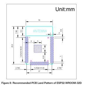 Image 2 - ESP32 WROOM 32D 8 MB/16 MB pamięci Flash wi fi + BT + BLE ESP32 moduł Espressif oryginalny lepszy wydajność RF