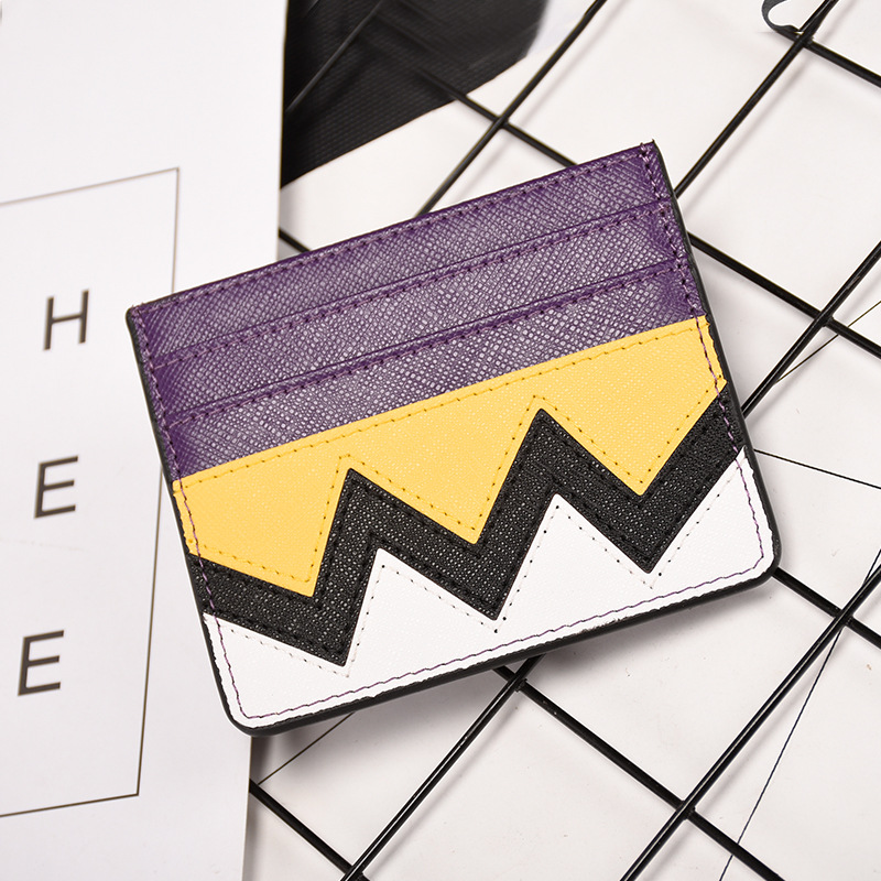 New fashion spell color women card holder case ladies leather wallet credit card holder ID card holder