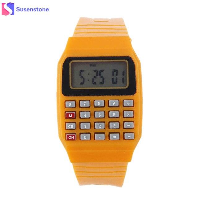 New Fashion Design Unisex Sport Watch Silicone Multi-Purpose Date Time Electroni