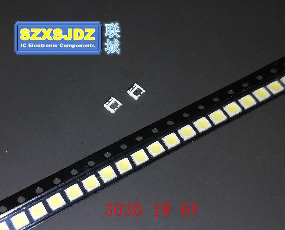 1000 Pcsfor Everlight Led 3030 Beads Light Lamp Beads 1w Backlight Lcd Tv 3v White Cool With Zener Pressure