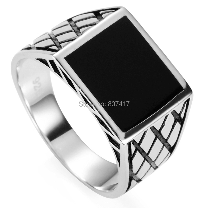 Eulonvan 925 Sterling Silver Rings jewelery For Men Engagement Wedding Gift luxurious Black enamel S-3780 size 7 8 9 10 11 12 13