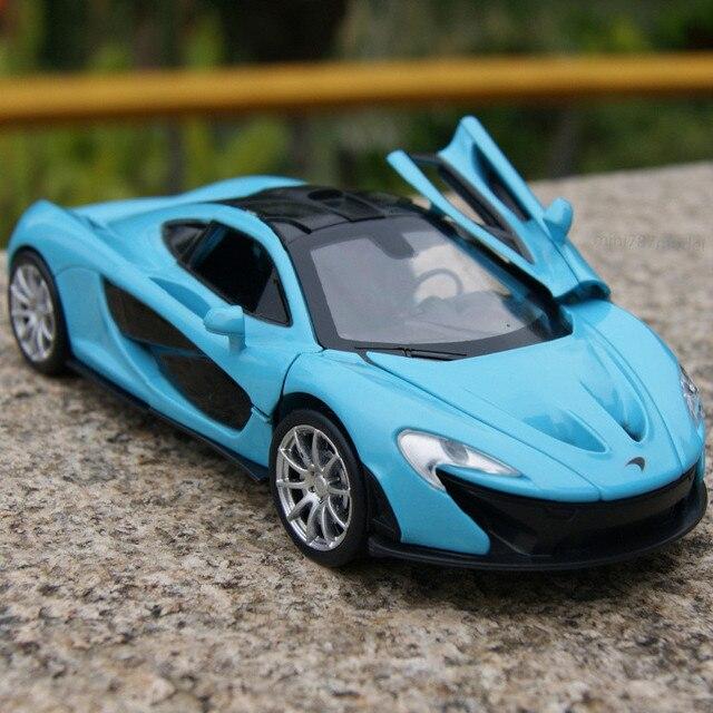 Подарок для мальчика 1:32 15.5 см прохладный McLaren P1 автомобиля нежный машина сплава модель акустооптические - волоконно-оптический коуниверсален игры игрушки домашней коллекции