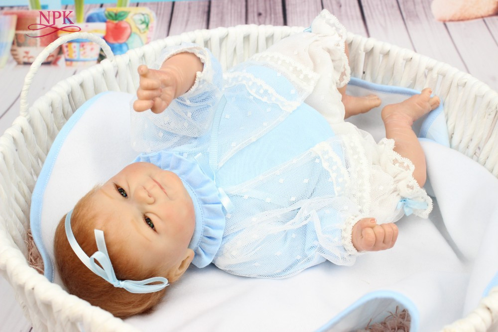 NPK Free shipping hot sale reborn baby doll soft real touch baby dolls gift for kids
