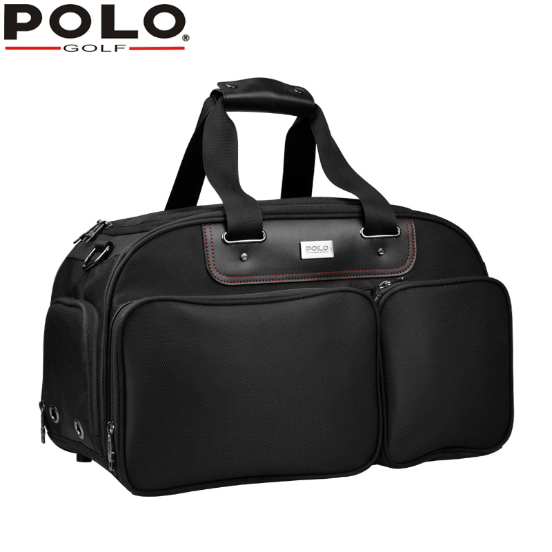 2018High-quality POLO Clothes & Shoes Bag Package Large Capacity Men Sport Travel Shoulder with Shoes Bag Handbag Golf Tennis pgm golf clothing bag waterproof genuine leather top quality golf shoes bag high capacity double layer sports bag handbag
