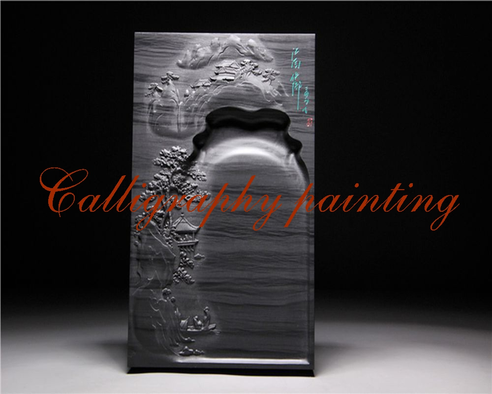 9 She Ink Stone Inkstone Inkslab Calligraphy Painting Tool chinese zhaoqing song keng inkstone horse pattern inkstone calligraphy painting tool 12838
