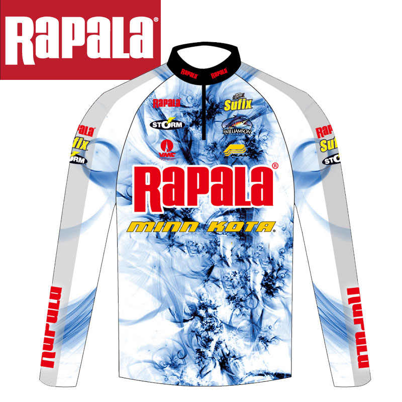 Rapala Brand Fishing Clothing Quick-Drying Sun Protection Fishing Shirts Anti-UV Fishing Competition Clothes Long Sleeve