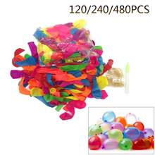 120/240/480 PCS Water Balloon Refill Pack With O Rings Party Magic Self Tying Bombs Summer Outdoor Games Water Balloons(China)