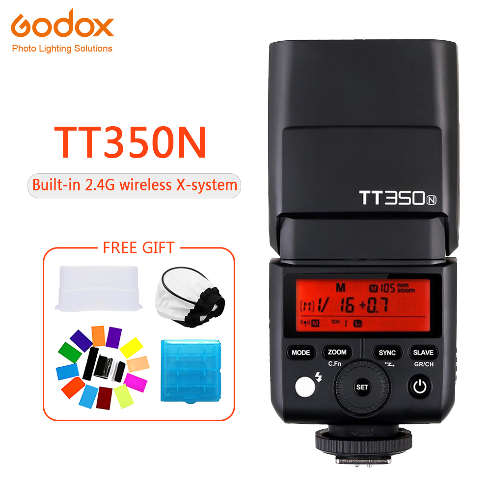 <font><b>Godox</b></font> Mini TT350 TT350N Speedlite flash TTL HSS 1/8000s 2.4G Wireless Camera photography for nikon D750 D7000 D7100 D7200 D5100 image