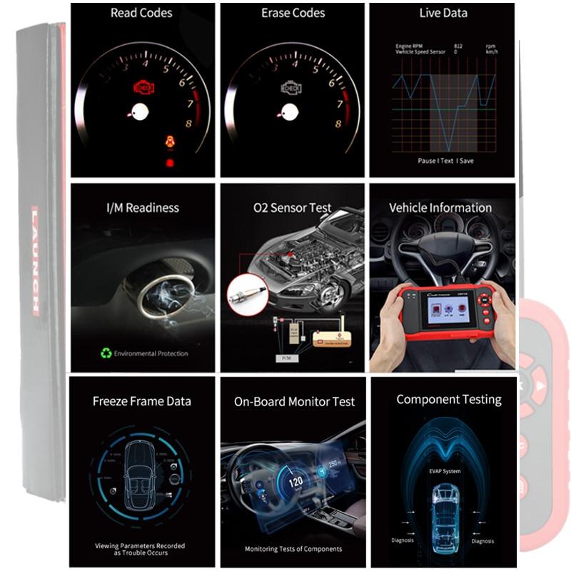 Image 5 - Launch X431 Creader 129 CRP129 OBD OBD2 OBEII четыре системный сканер ENG/AT/ABS/SRS Reset Funcitons Запуск диагностического инструмента Горячая продажа-in Считыватели кодов и сканирующие инструменты from Автомобили и мотоциклы
