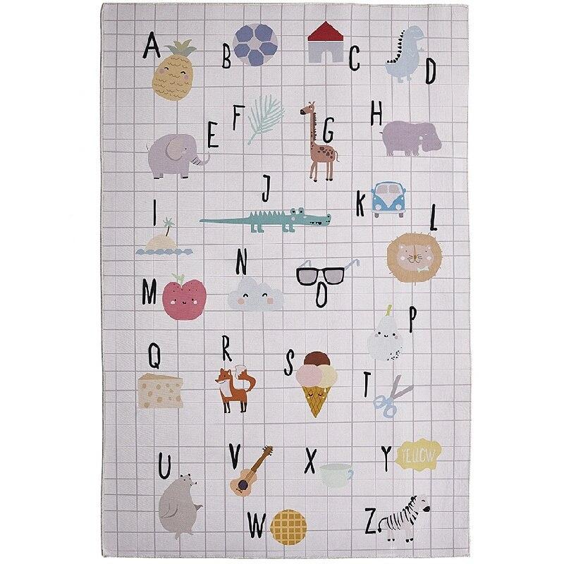Dessin animé animaux lettres motif bébé jouer tapis couverture pique-nique tapis Style nordique enfants chambre décor à la maison Photo accessoires éducation jouet