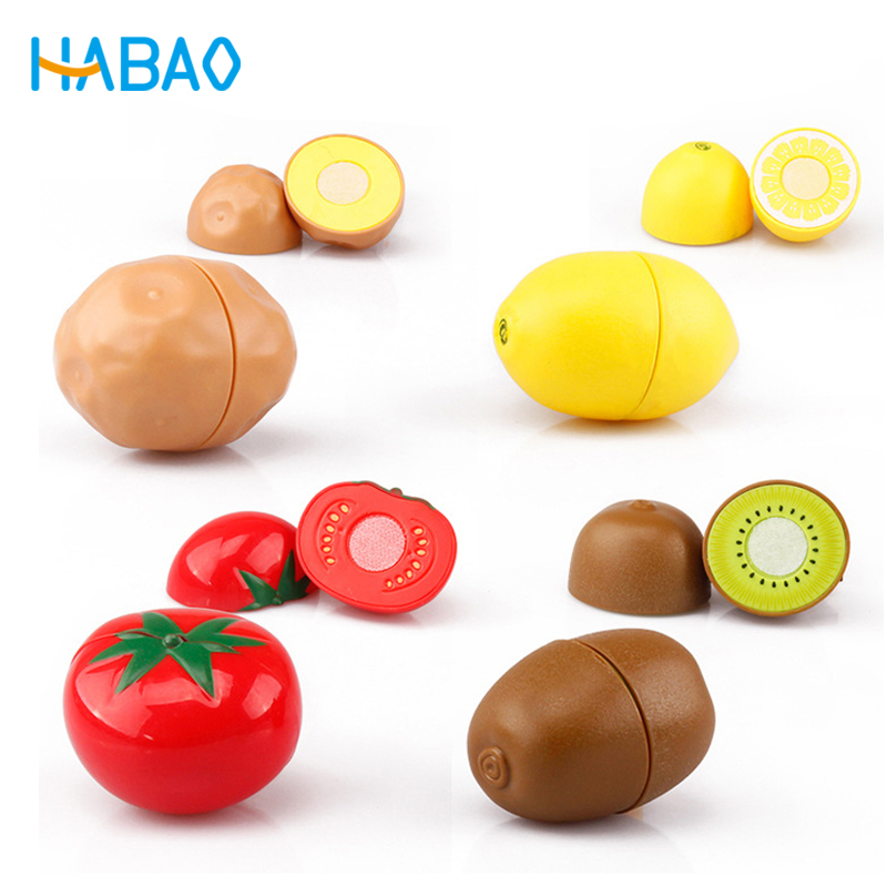 Pretend Play Set Educational Cooking Simulation Miniature Food Model Fruits And Vegetables Kids Kitchen Toys For Children Girls