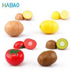 Ролевые игры Набор Развивающие пособия по кулинарии моделирование миниатюрный еда модель фрукты и овощи дети кухонные игрушки для д
