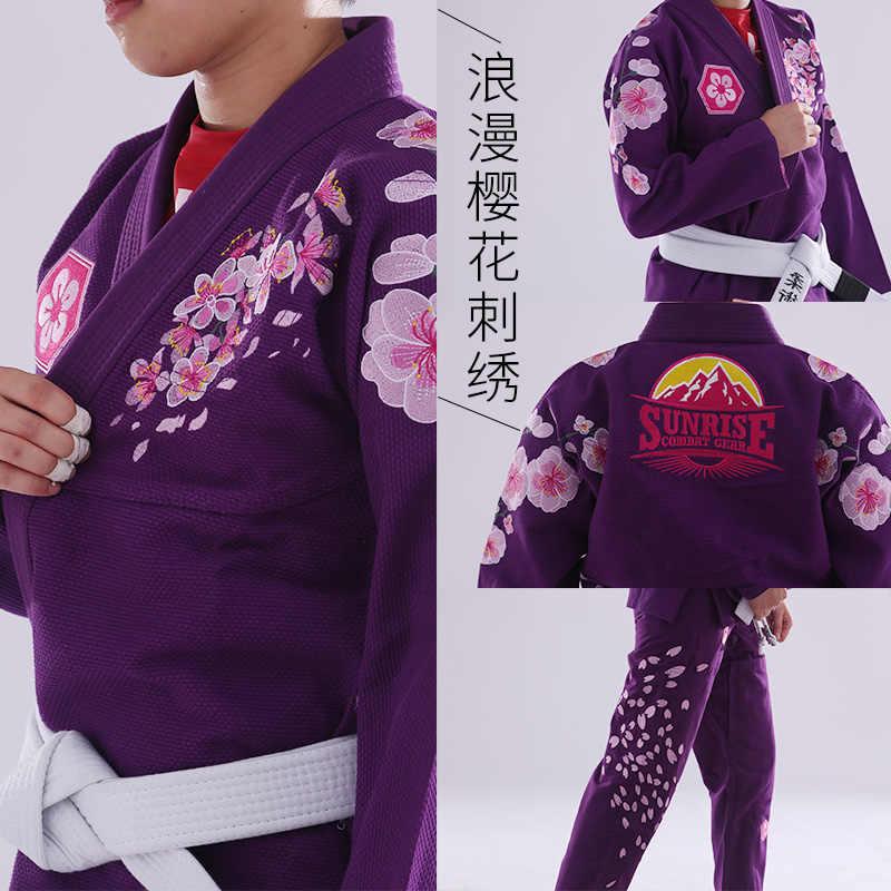 شروق الشمس الإصدار الجديد الترا ضوء BJJ Gi المرأة جيو جيتسو جي مع قماش بامبو الفتيات BJJ Kimonos مخصص Bl