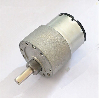 37GB-520 DC 6V 12V 24V 6mm Shaft Dia Electric Gearbox Geared Motor DIY Car Robot 1.3RPM-200RPM