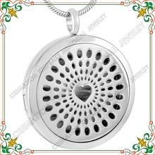 CMP0018 нержавеющей стали 316L полный сердца кулон ароматерапия духи медальон, DIY молодые жизнь эфирные масла диффузор ожерелье