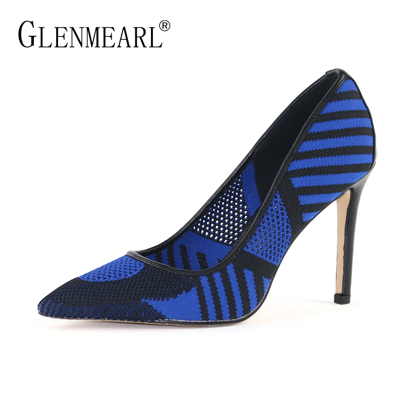 Brand Shoes Woman High Heels Women Pumps Spring Single Dress Shoes Lady Thin Heels Hollow Female Pumps Plus Size Pointed Toe 45 brand women pumps high heels shoes leather spring wave point single women dress shoes thin heels pointed toe party pumps lady de