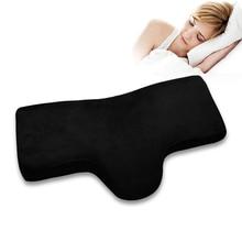 Bellek yastıklar yumuşak Lashes yastık kirpik Salon veya uyku kadife malzeme yastık makyaj araçları kirpik uzatma