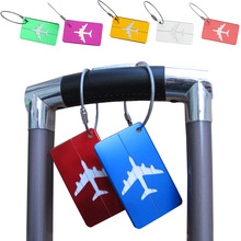 Portable Hot Baggage Tag Luggage cover Straps Travel Accessories Checked Airplane Shape Square Boarding Lift Elevator Girl/Boy