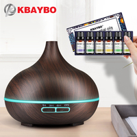 KBAYBO Aroma Air Humidifier Essential Air Diffuser Wood Air Purifier Cool Mist Maker Natural Plant Pure