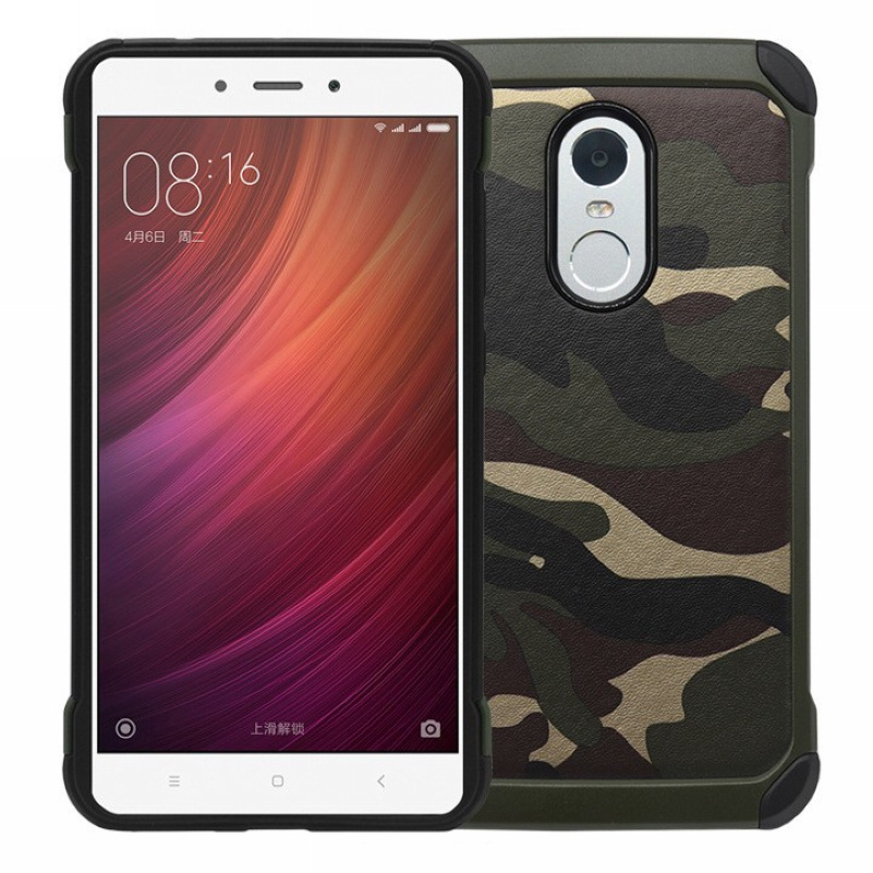For Xiaomi Redmi Note 2 3 4 Hybrid Armor Plastic + TPU 2 in 1 Army Camo Camouflage Rear Cover Case