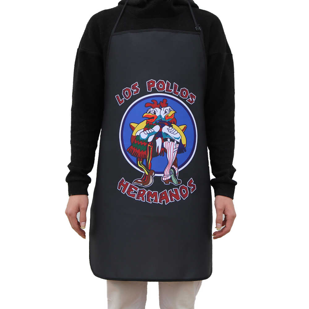 Breaking Bad LOS POLLOS Hermanos Önlük Izgara Mutfak şef önlüğü Profesyonel BARBEKÜ, Pişirme, Pişirme Erkekler Kadınlar Ayarlanabilir