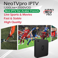 NeoTV Subscription Best French IPTV Arabic IPTV+GOTIT S905 Android TV Box Amlogic S905W Quad Core 2G/16G 4K HDMI 2.0 Set Top Box