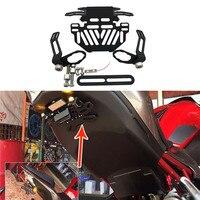 For Honda Grom MSX 125 CBR650F CTX700 CTX700N Motorcycle License Plate Bracket Licence Holder Frame Number License Plate light