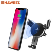 цена на HAWEEL 10W Car Fast Charging Wireless Charger Car Charger Two Color to Choose Black and White