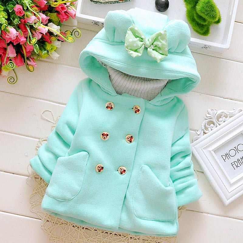 Детские пальто C2018 новый модный костюм зимний осенний свитер для девочек от 0 до 3 лет Одежда для новорожденных куртка с длинными рукавами