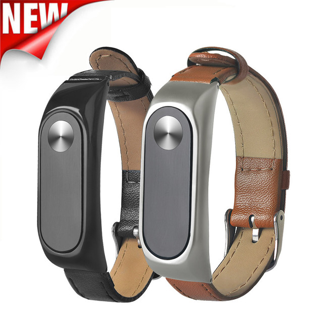 GEMIXI  Watchbands Watch Strap  Business Lightweight Leather Bracelet   Adjustable Replacement For XIAOMI MI Band 2
