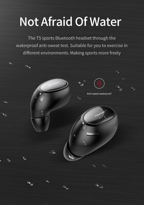 AWEI T5 Mini Ear Bluetooth