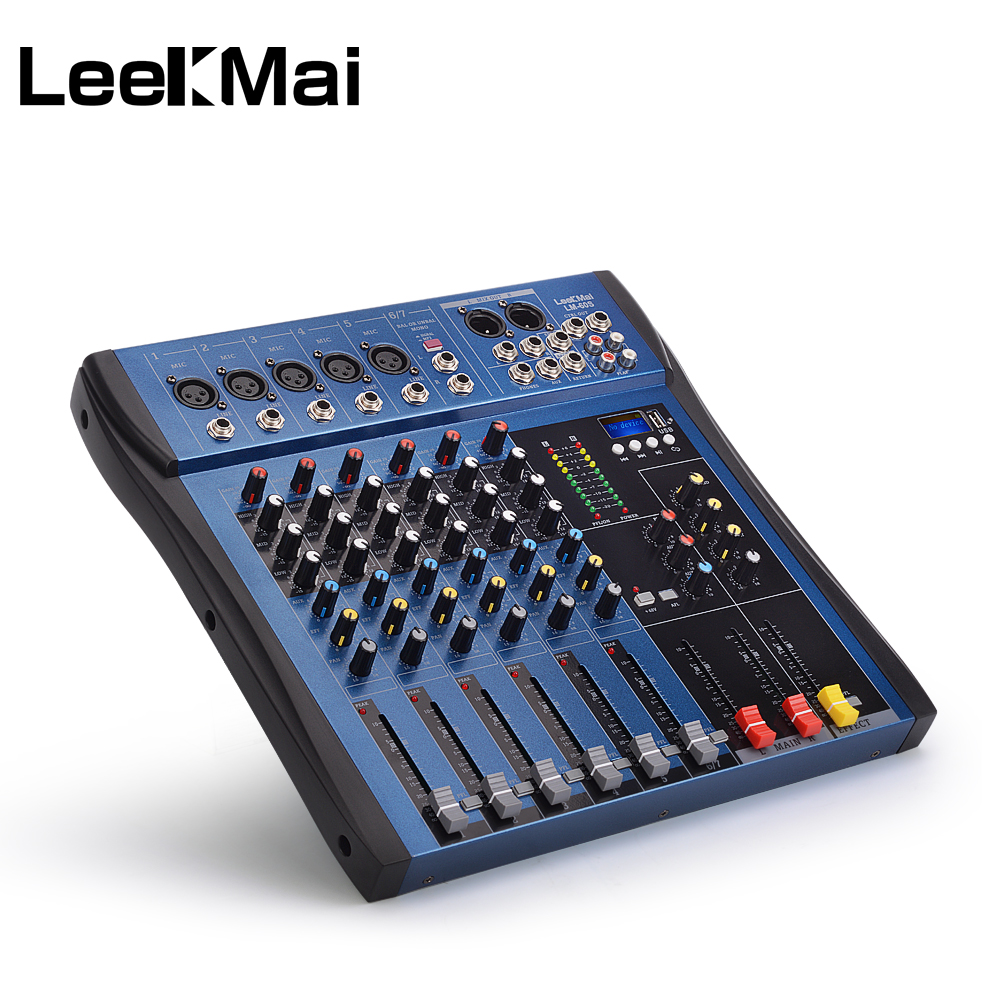 lm 60s usb professional 6 channel audio mixer built in digital effect mixer music mixer ultra. Black Bedroom Furniture Sets. Home Design Ideas