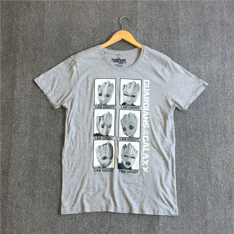 Guardians of the Galaxy 2 men t-shirt Anime groot head Summer funny I AM GROOT T Shirt Men Cool gray Tops Tees Homme Tshirt