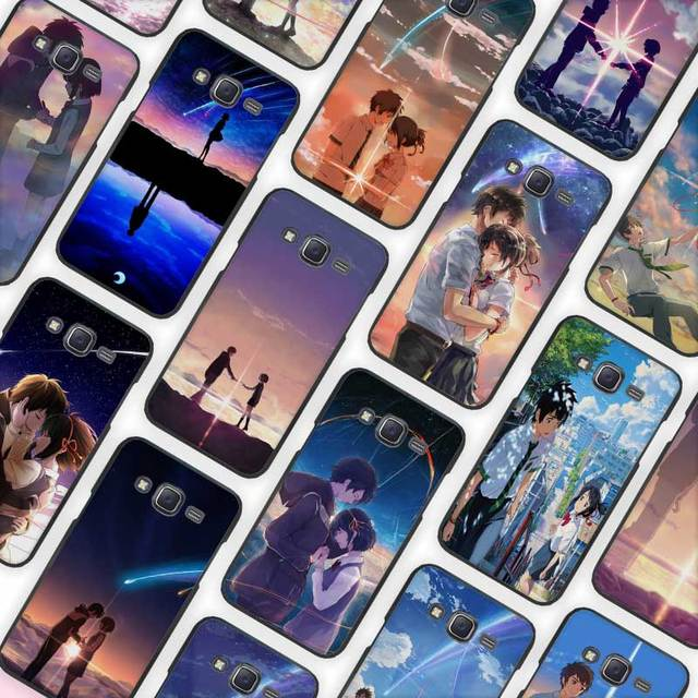 anime movie your name black case cover shell protective for samsung