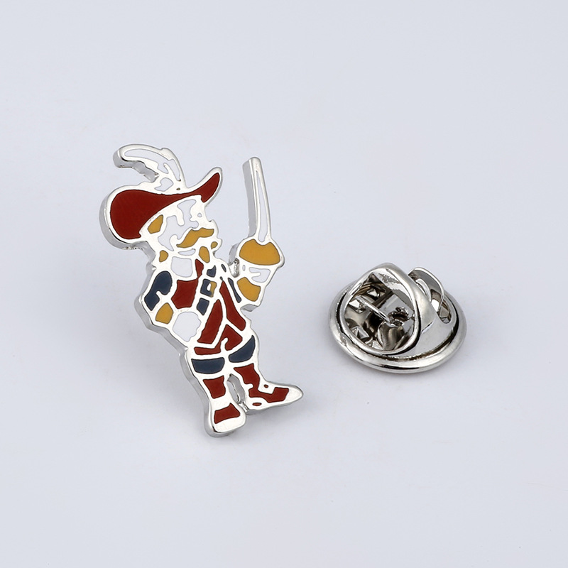 Sport Brooches Knight Basketball Team Enamel Pin for Boys Lapel Pin Hat/bag Pins Denim J ...