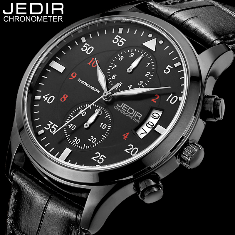 reloj hombre 2017 New JEDIR Mens Watches Top Brand Luxury Quartz Watch Men Fashion Casual Leather Wristwatch relogio masculino men watch luxury fashion faux leather mens blue ray glass quartz analog watches handsome relogio masculino feloj hombre m1