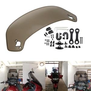 Image 4 - Parabrisas Universal ajustable para motocicleta, alerón de parabrisas, Deflector de aire para Honda BMW F800 R1200GS KAWASAKI YAMAHA