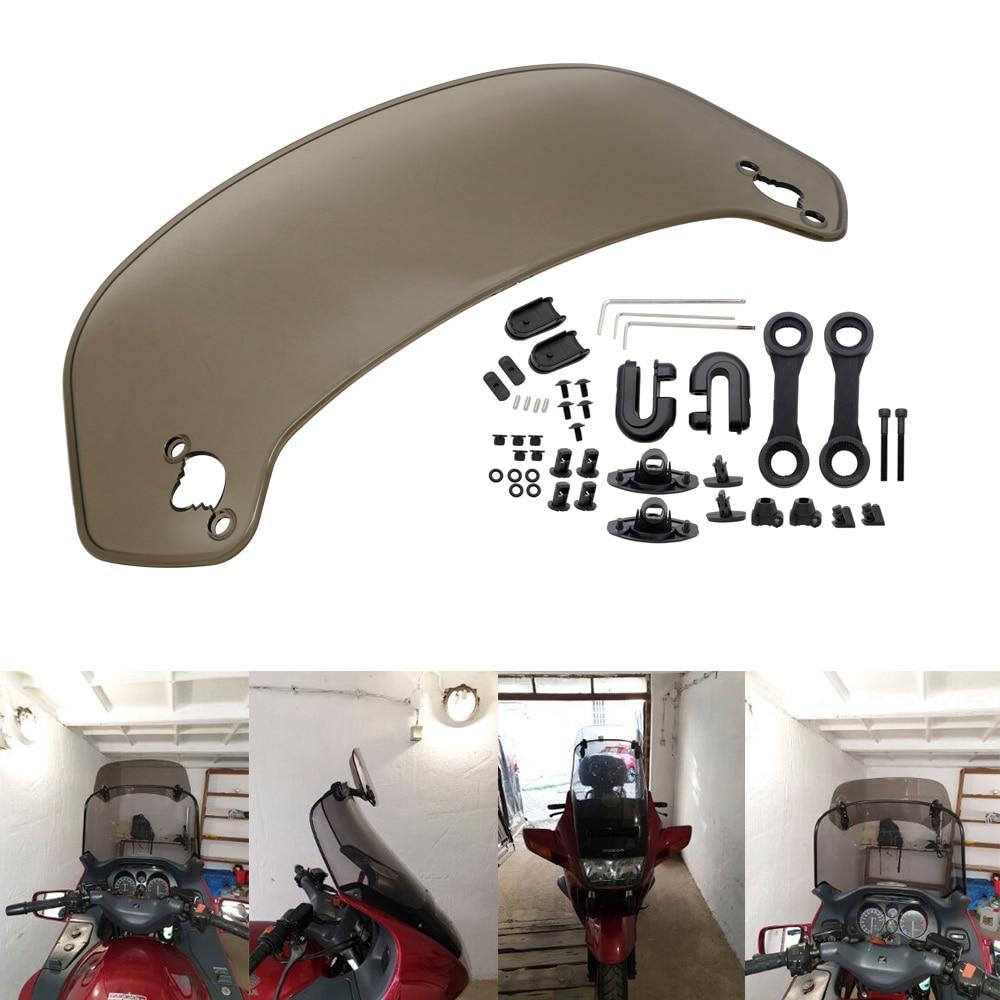 Image 4 - Universal Motorcycle Risen Adjustable Wind Screen Windshield  Spoiler Air Deflector for Honda BMW F800 R1200GS KAWASAKI  YAMAHAWindscreens