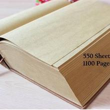 Vintage Kraft Thick Dictionary Design Super Thick Life Diary Book Notebook B5 B6 1100 Pages Sketchbook