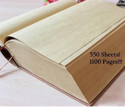 Vintage Kraft porphyrique arbre épais dictionnaire Design Super épais vie journal livre cahier B5 B6 1100 Pages carnet de croquis