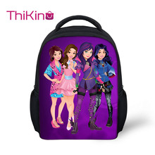 Thikin Descendants Girls Preschool Book Backpack for Kids Pupils School bags Supplies Boys Bookbags