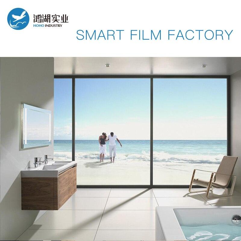 Sunice 1.5 m x 1 m taille peut être personnalisé confidentialité magique PDLC Film intelligent bâtiment/Automobile fenêtre teinte magique film intelligent