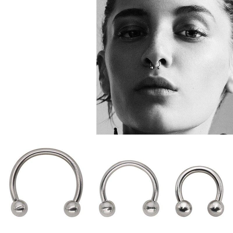 10pc Bulk 14g Horseshoe Ring Circular Barbell CBB Septum Helix Bar Earring 1